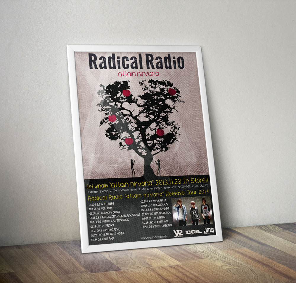 "Radical Radio ""attain nirvana"" Poster"