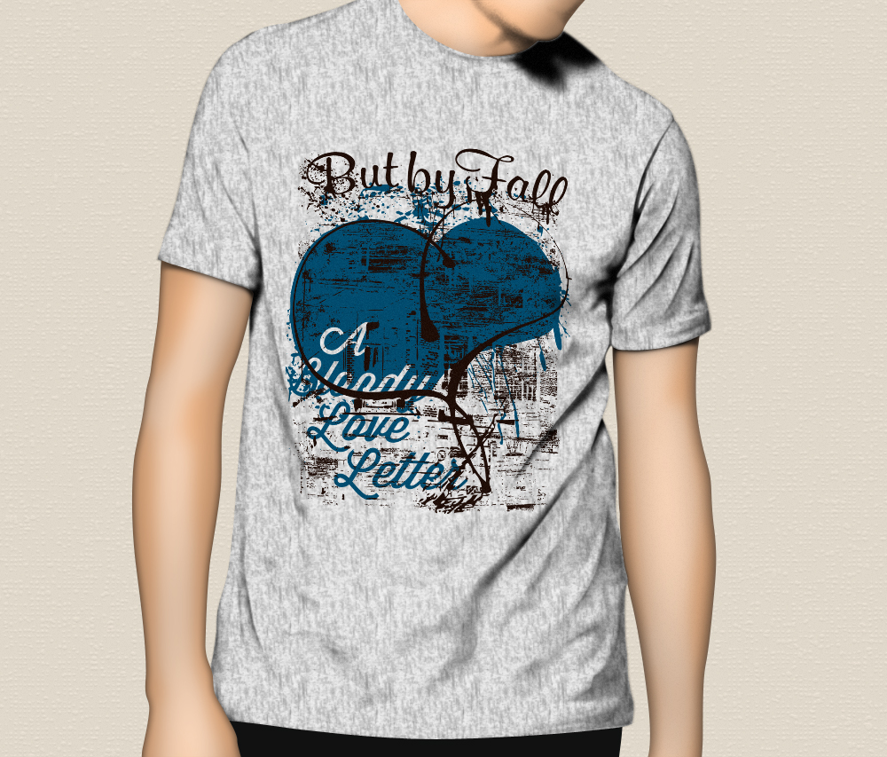 """But By Fall """"A Bloody Love Letter"""" T-Shirts"""