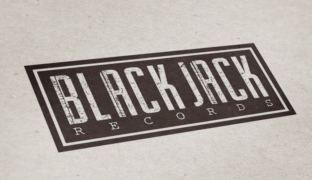 """BLACKJACK RECORDS"" Logo"
