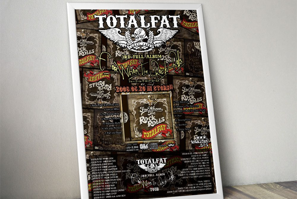 """TOTALFAT """"FOR WHOM THE ROCK ROLLS"""" Poster"""