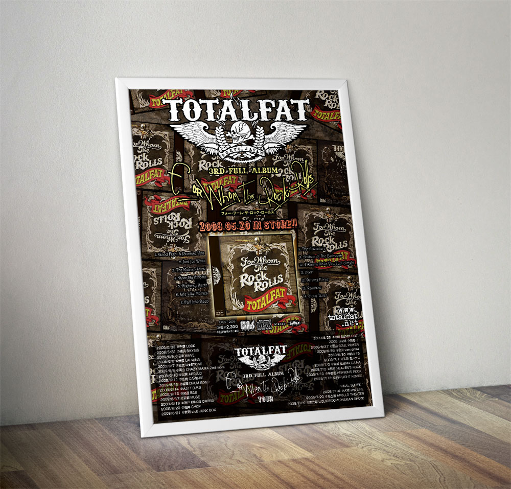 "TOTALFAT ""FOR WHOM THE ROCK ROLLS"" Poster"