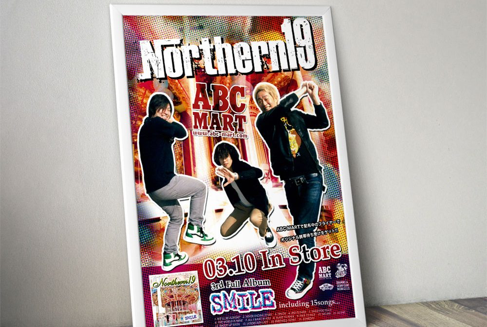 """Northern19 """"SMILE"""" x ABC MART Poster"""