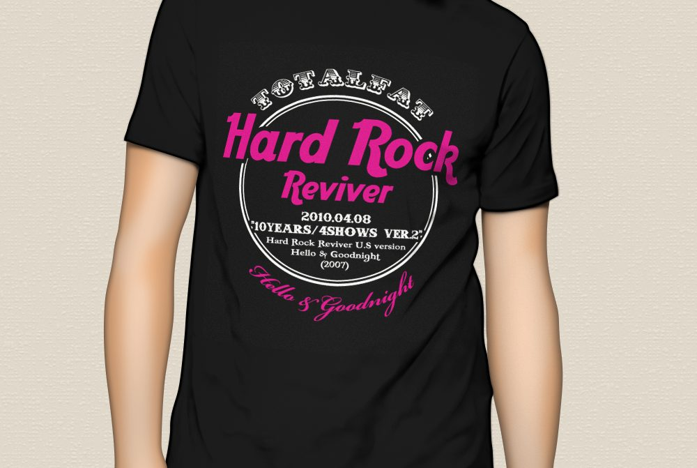 """TOTALFAT """"10YEARS/4SHOWS"""" T-Shirts ver.02"""