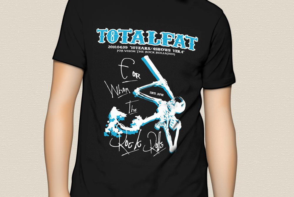 """TOTALFAT """"10YEARS/4SHOWS"""" T-Shirts ver.04"""