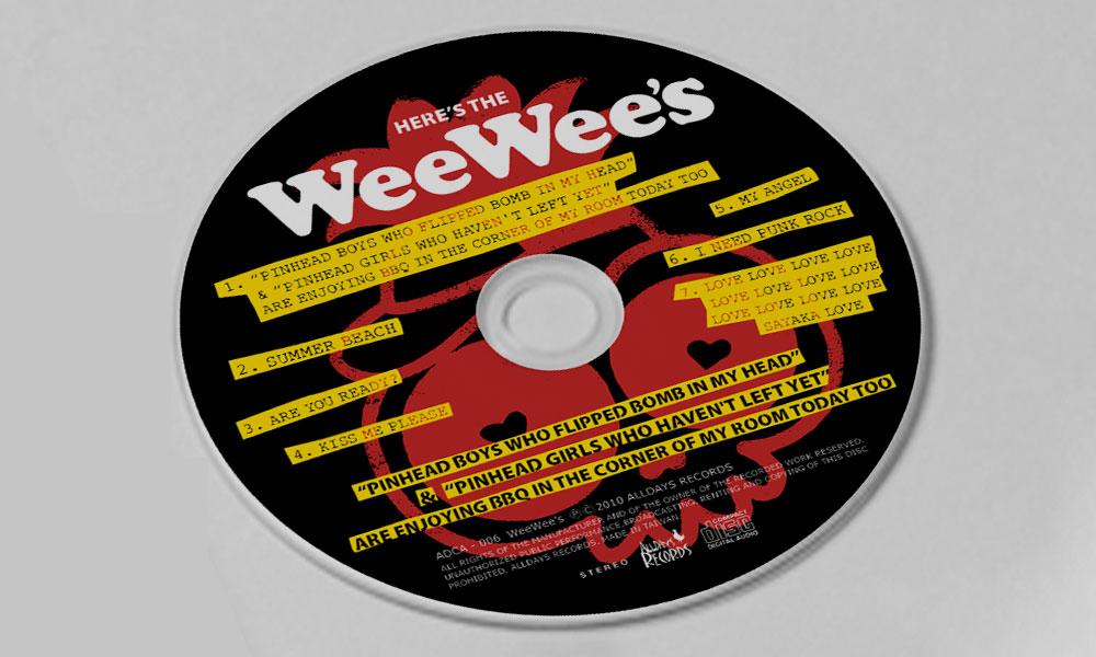 """WeeWee's """"pinhead..... EP"""" CD"""