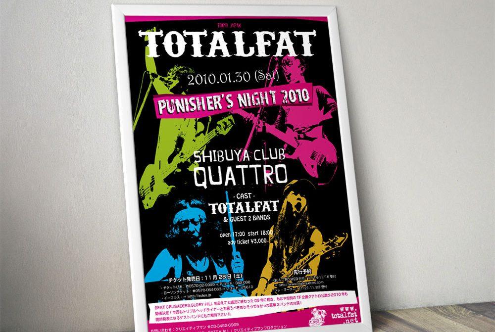 """TOTALFAT """"PUNISHER'S NIGHT 2010"""" Poster"""