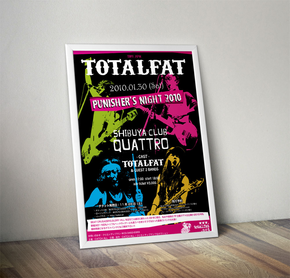 "TOTALFAT ""PUNISHER'S NIGHT 2010"" Poster"