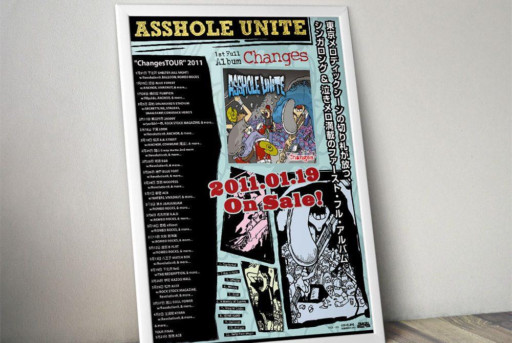 """ASSHOLE UNITE """"Changes"""" Poster"""