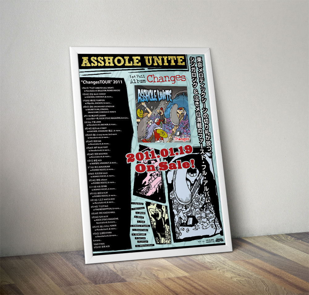 "ASSHOLE UNITE ""Changes"" Poster"