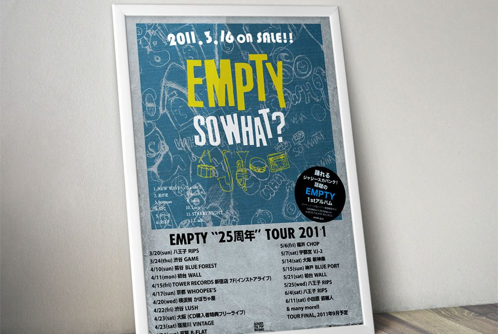 """EMPTY """"SO WHAT?"""" Poster"""