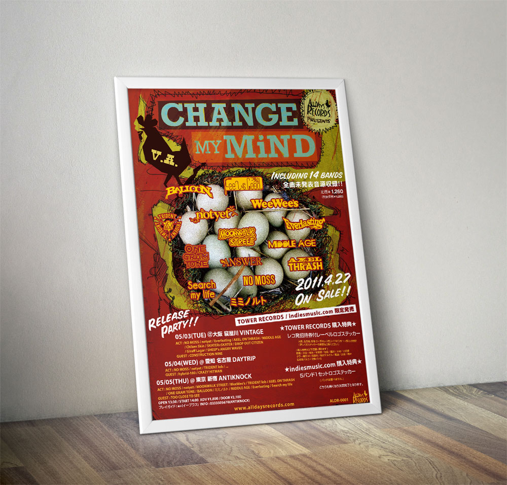 "V.A. ""CHANGE MY MiND"" Poster"