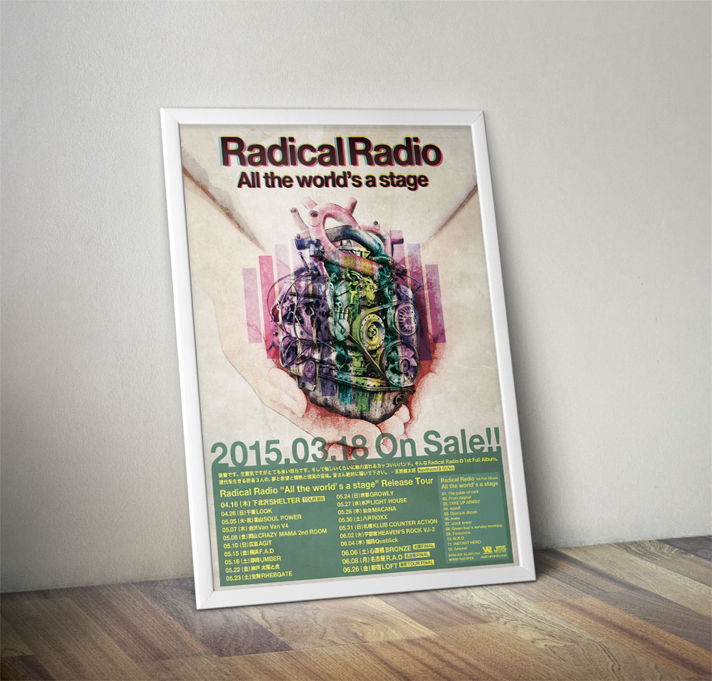 "Radical Radio ""All the world's a stage"" Poster"